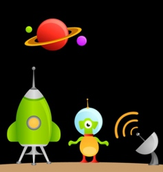 Cartoon alien vector