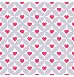 Heart shape seamless pattern pink color vector