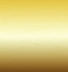 Metal background texture of brushed gold plate vector