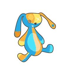 Flat rabbit toy vector