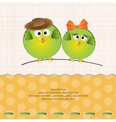 Birds couple in love vector