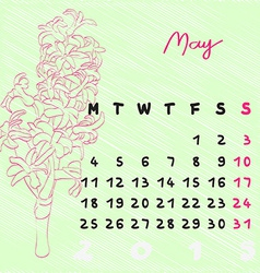 May 2015 flowers vector