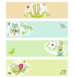 Easter doodle color templates vector