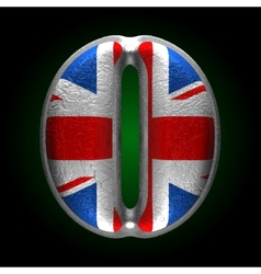 Great britain metal figure o vector