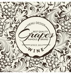 Wine list design layout on chalkboard vector