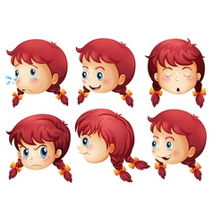 Girl expressions vector
