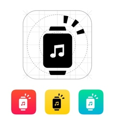 Outgoing sound from smart watch icon vector