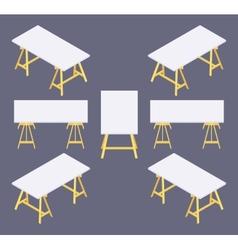 Isometric work table vector