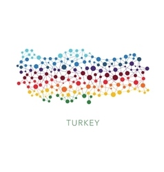 Dotted texture turkey background vector