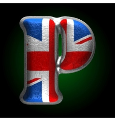 Great britain metal figure p vector