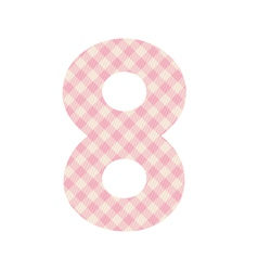 Pink squares pattern number eight vector