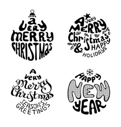 A very merry christmas and happy new year vector
