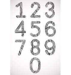 Retro style numbers typeset vector