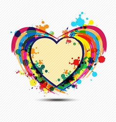 Artistic heart paint design vector