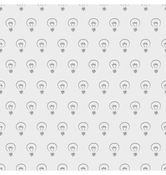 Tile light bulbs grey pattern or wallpaper vector
