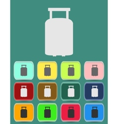 Suitcase for travel icon vector