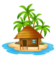 A small house in the island vector