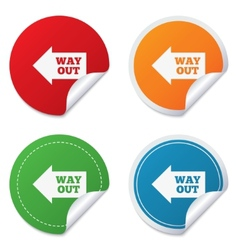 Way out left sign icon arrow symbol vector