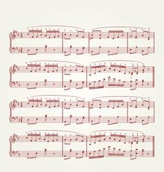 Music note sheet vector