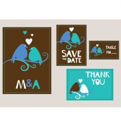 Wedding stationary vector
