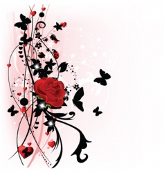Valentine day rose vector