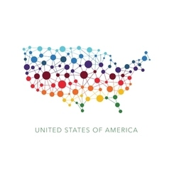 Dotted texture usa background vector