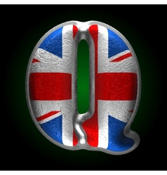 Great britain metal figure q vector