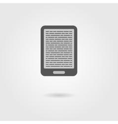 E-book reader icon with shadow vector