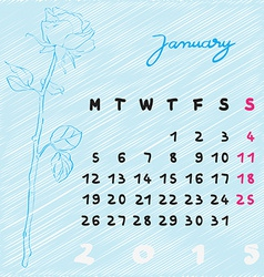 January 2015 flowers vector