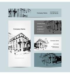 Business card urban design street of barcelona vector