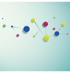 Abstract molecular structure vector