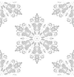 Damask seamless pattern orient grey vector