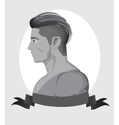 Trendy hipster men vector