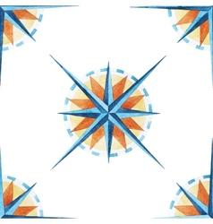 Wind rose pattern vector