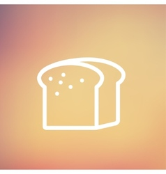 Small size loaf of bread thin line icon vector