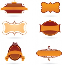 Old style labels vector