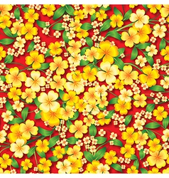 Abstract yellow seamless spring floral ornament vector