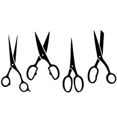 Isolated scissors set vector