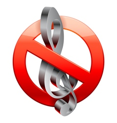 No music sign vector