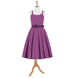 Purple dress vector