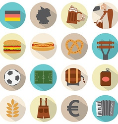 Modern flat design germany icons set vector