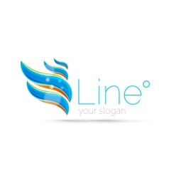 Abstract wave line logo vector