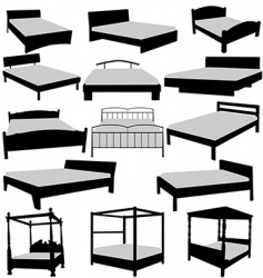 Beds collecttion vector