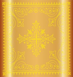 Beautiful vintage yellow floral background vector