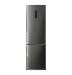 Metallic refrigerator vector