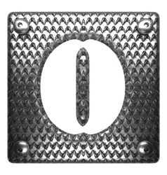 Metal figure o vector