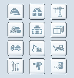 Construction icons vector