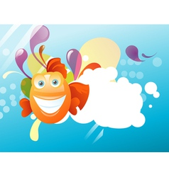 Funny fish vector