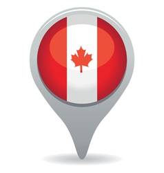 Canada flag pointer vector