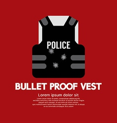 Bullet proof vest vector